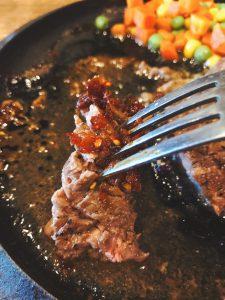 お肉にラー油